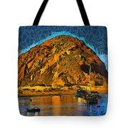 The Rock At Morro Bay Abstract Tote Bag
