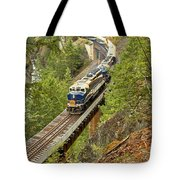 The Rocky Mountaineer Above The Cheakamus River Tote Bag