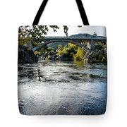The Rogue River At Gold Hill Bridge Tote Bag