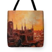 The Roofs Of Gdansk Tote Bag