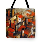 The Roofs Of Lyon Tote Bag