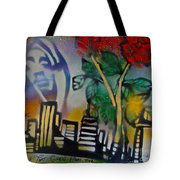 The Rose From The Concrete Gold Tote Bag