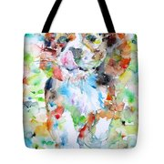 The Running Puppy Tote Bag