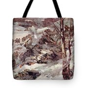 The Russians Fighting Their Way Over The Carpathians Tote Bag