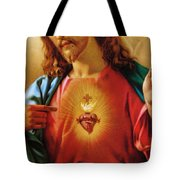 The Sacred Heart Of Jesus Tote Bag
