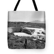 The Salt River In Arizona Tote Bag