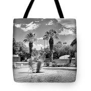 The Sandpiper Pool Bw Palm Desert Tote Bag