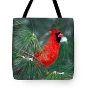 The Santa Bird Tote Bag