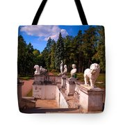 The Satutues Of Archangelskoe Palace. Russia Tote Bag