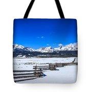 The Sawtooth Mountains Tote Bag