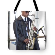 The Saxophone Player Tote Bag
