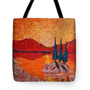 The Scot And The Mermaid Tote Bag