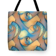 The Sea And The Sand Abstract Tote Bag