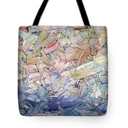 Fragmented Sea Tote Bag