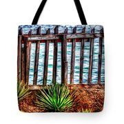The Sea Fence Siesta Key Fla. Tote Bag