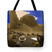 The Searchers   Cast And Crew Monument Valley Arizona 1956 Tote Bag