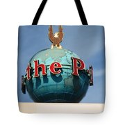 The Seattle Pi Globe Sign Tote Bag by Kym Backland