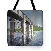 The Seine And Railroad Bridge At Argenteuil Tote Bag