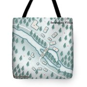 The Shadowed Keep Snowbound Village Tote Bag