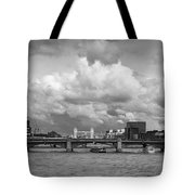 The Shard And Thames View Black And White Version Tote Bag