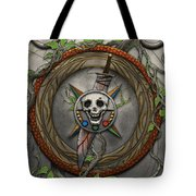 The Shattered Skull Tote Bag
