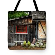 The Shed At Monches Farm Tote Bag by Mary Machare