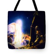 The Shepherds And The Angel Tote Bag