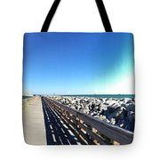 The Ship Comes Into The Port Tote Bag