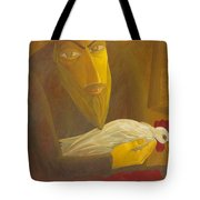 The Shochet With Rooster Tote Bag