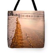 The Shore In Winter Tote Bag