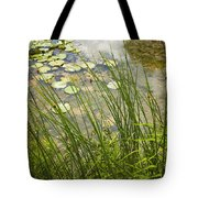 The Side Of The Lily Pond Tote Bag