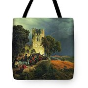 The Siege. Defense Of A Church Courtyard During The Thirty Years' War Tote Bag