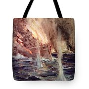 The Sinking Of The Gneisenau Tote Bag