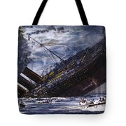 The Sinking Of The Titanic Tote Bag