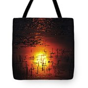 The Sinking Sun Tote Bag