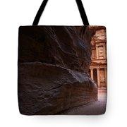 The Siq And Treasury At Petra Tote Bag