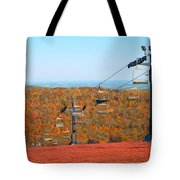 The Skiing Fields In Autumn Tote Bag