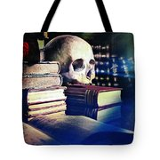 The Skull The Spell Book And The Rose Tote Bag