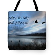 The Sky Tote Bag by Lori Deiter