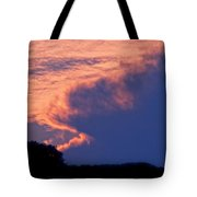 The Sky On Fire Tote Bag