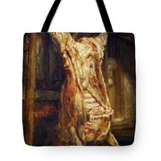 The Slaughtered Ox Tote Bag by Rembrandt Harmenszoon van Rijn