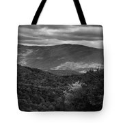 The Smokies In Black And White Tote Bag