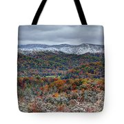 The Snow Began To Fall Tote Bag