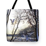 The  Birds Of Winter Tote Bag