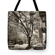 The Snow Tree - Sepia Antique Look Tote Bag