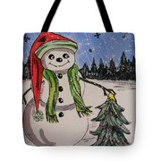 The Snowman's Tree Tote Bag