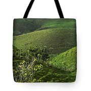 The Soft Hills Of Caizan Tote Bag