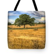 The Solitary Farm Tree Tote Bag