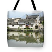 The South Lake In Hongcun Village Tote Bag