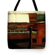 The Square Piano Tote Bag
